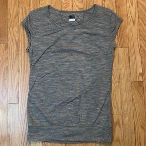 ICEBREAKER MERINO GT gray medium open back t shirt